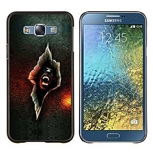 LECELL--Funda protectora / Cubierta / Piel For Samsung Galaxy E7 E700 -- Vampire crack --