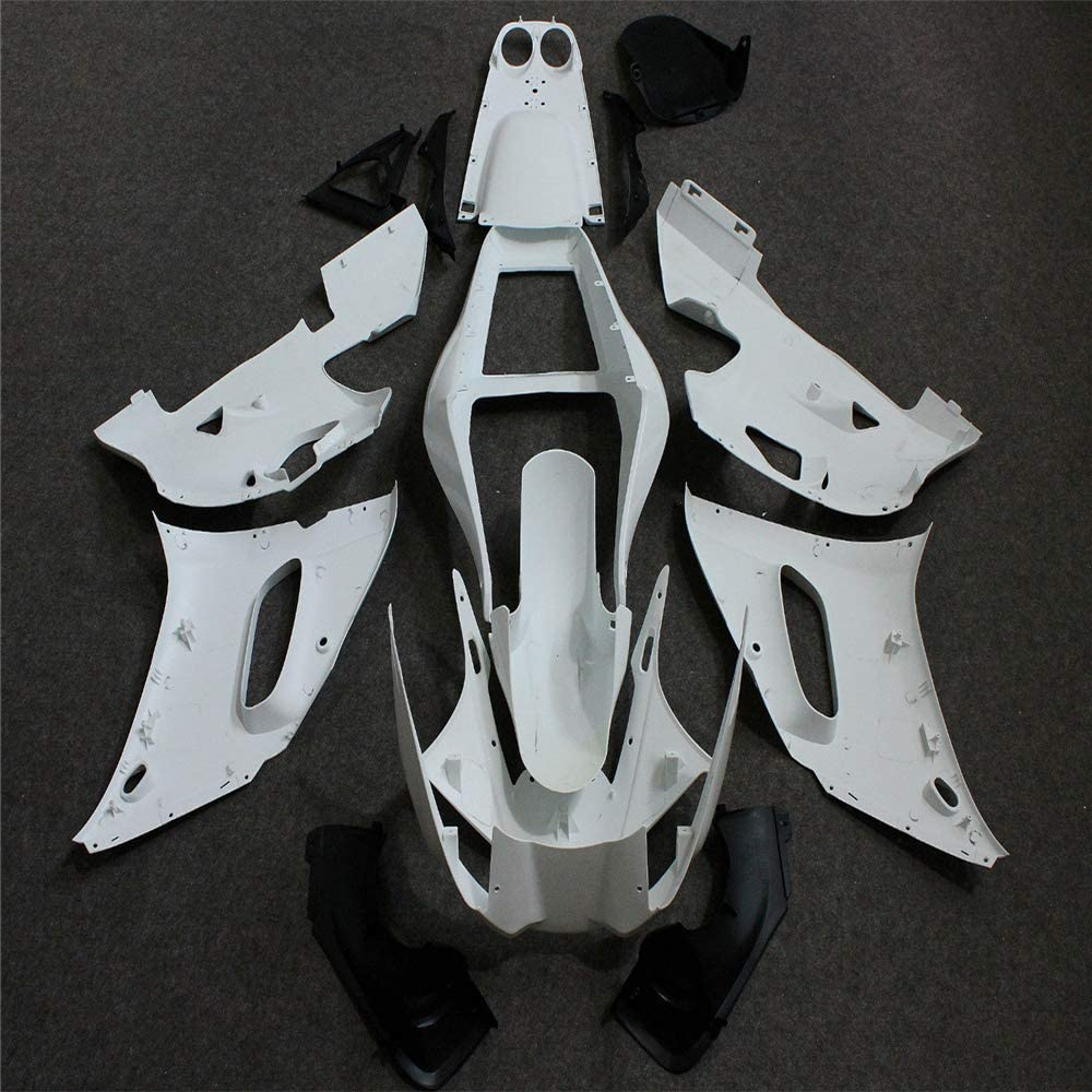 Unpainted Plastic Bodywork Fairing Fit for YAMAHA 2006 2007 YZF R6 Injection Mold ABS New Aftermarket Bodyframe Kit Set 06 07