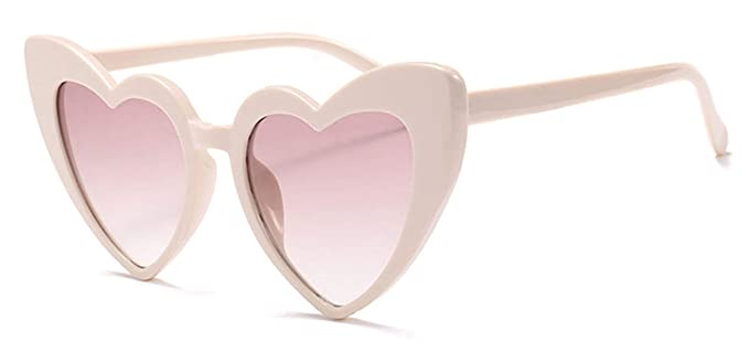 Amazon.com: Metal Hinge Popular Heart Sharp Women Cat Eye ...