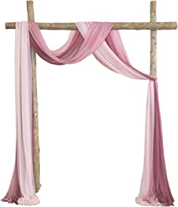 Arch Drapes for Wedding Arch Fabric for Party Reception Backdrop Wedding Arbor, 3 Panels 30