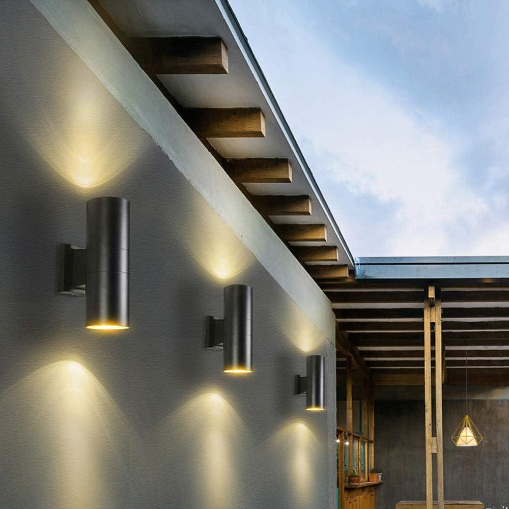 2x 5W warmwei/ß Lichtstrahl Leuchtmittel Au/ßenleuchte Au/ßenlampe Wandlampe f/ür Innen und Au/ßen Yosoan LED-Wandleuchte Up/&Down Wandleuchte Au/ßenwandleuchte inkl Grau 5W 3000 K
