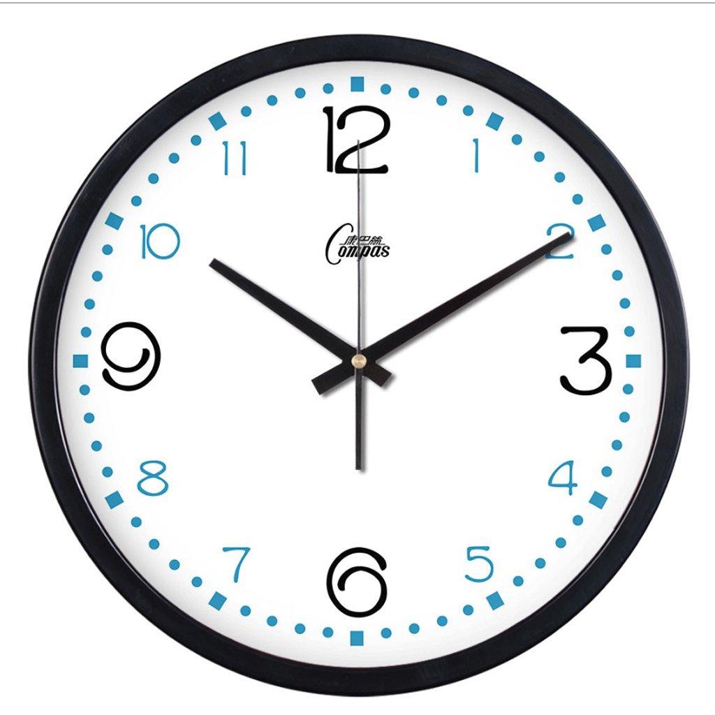 ウォールクロックリビングルームファッションクリエイティブメタルミュート時計時計ウォールチャートシンプルなクリエイティブクォーツ時計 (色 : A, サイズ さいず : 14 inches) B07F74PGF8 14 inches A A 14 inches
