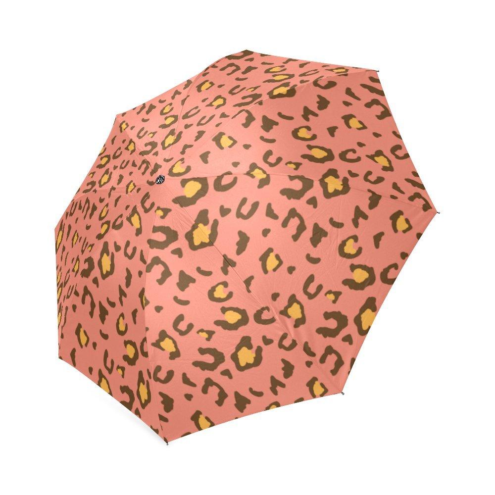 Nueva Personazlied Coral leopardo poliéster Pongee tela impermeable plegable paraguas: Amazon.es: Deportes y aire libre