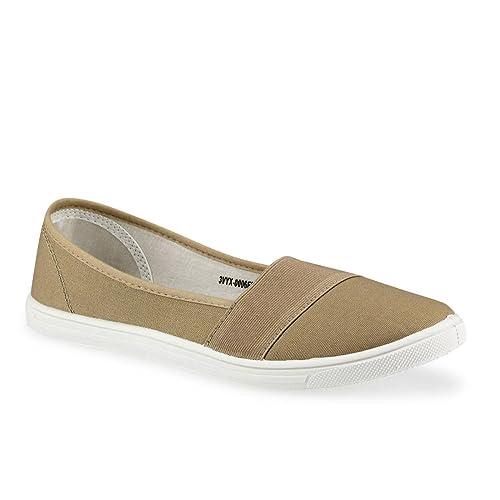 JEPO - Mocasines de tela para mujer, color, talla 39: Amazon.es: Zapatos y complementos