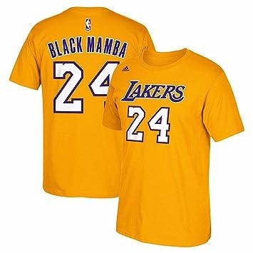 Kobe Bryant Los Angeles Lakers Black Mamba de Oro Jersey Nombre y número Camiseta, Atlético, Dorado: Amazon.es: Deportes y aire libre