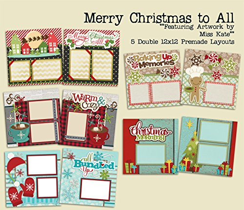Merry Christmas To All Set - 5 Double Page Layouts