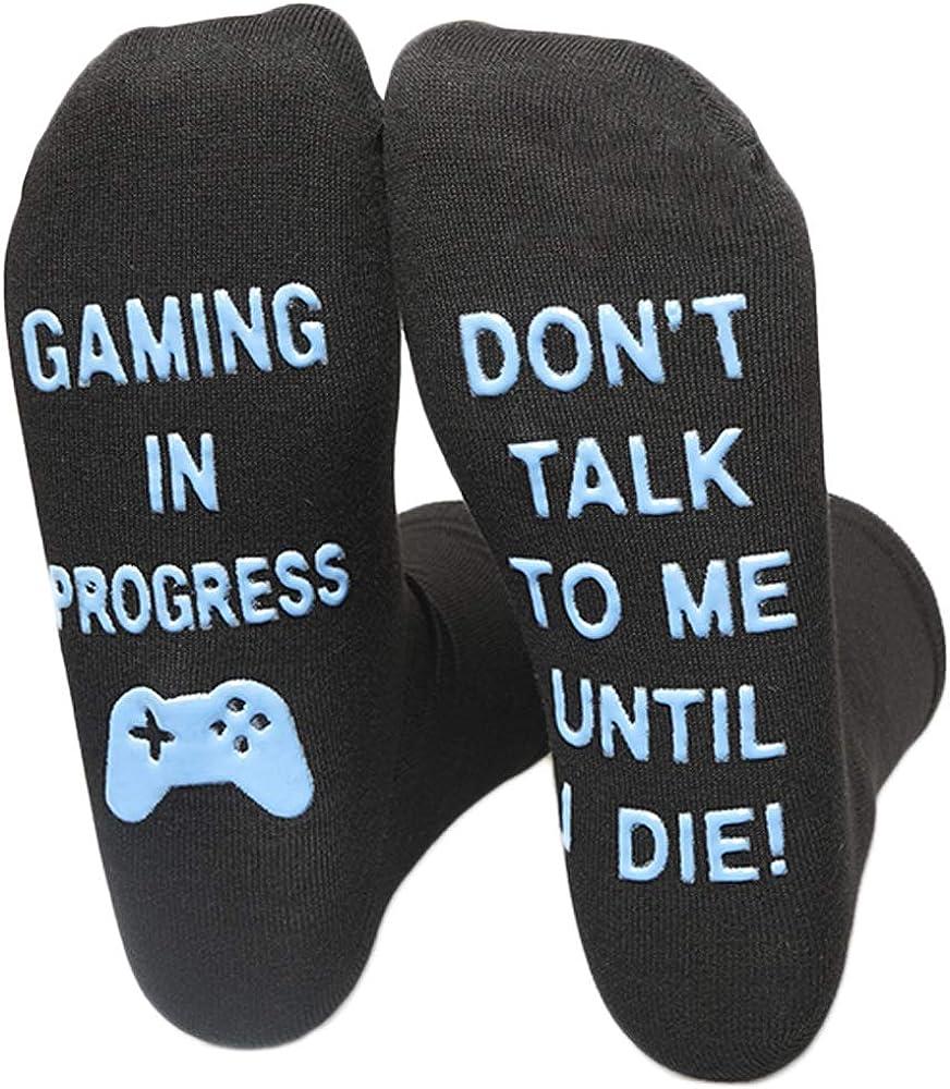 Do Not Disturb Gaming Socks Novelty Funny Gamer Socks Gifts for Kids Teen Boys Mens Womens Gamer Lovers