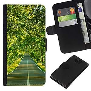 All Phone Most Case / Oferta Especial Cáscara Funda de cuero Monedero Cubierta de proteccion Caso / Wallet Case for Samsung ALPHA G850 // Forest road