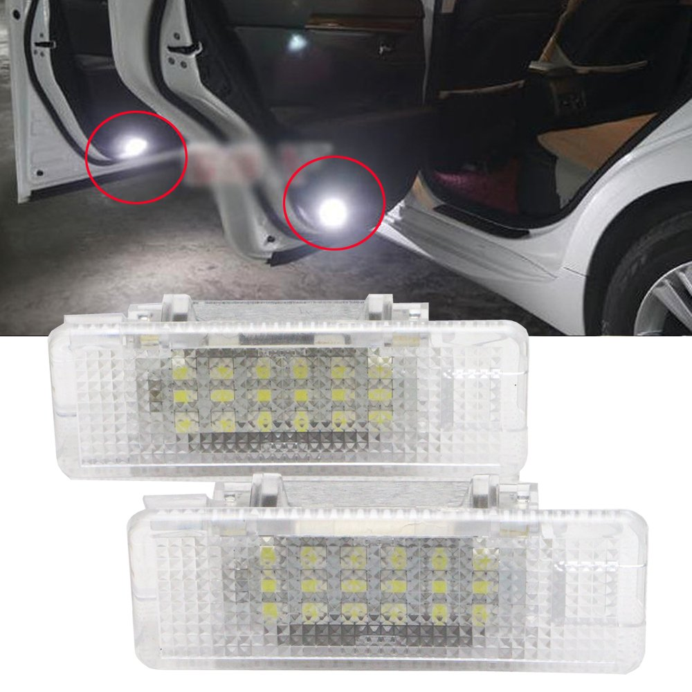 Nslumo 7000k Xenon White LED Courtesy Door Light for BMW E53 X5 E39 E52 Z8 Error Free LED Car Door Welcome Light for BMW E53 X5 E39 E52 Z8 Newsun