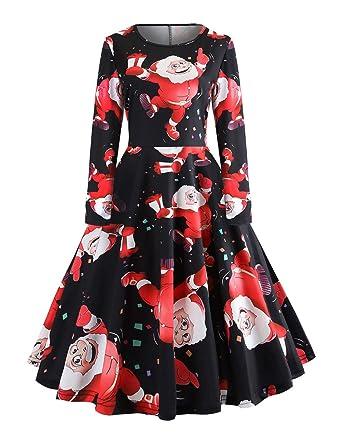 fee3a4422e8 FeelinGirl Femme robe mere noel noel robe femme robe rockabilly noel robe  mere noel fille robes