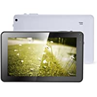 Haehne Tablet de 9 Pulgadas - Google Android 4.4 Kitkat, Capacitiva Multipunto de Cuatro Núcleos, Pantalla Táctil TFT LCD, Cámara Dual, WiFi, 512MB ROM 8GB RAM, Blanco