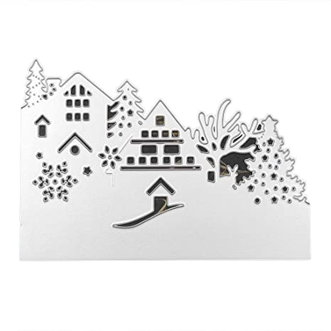 Christmas Snow Cutting Dies Stencil DIY Scrapbooking Card Album Mould Craft