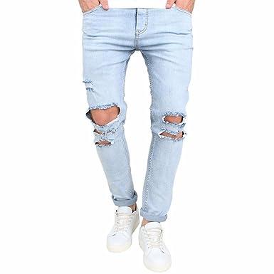 Männer Jeans SHOBDW Herren Jeans Stretchy Ripped Skinny Biker Jeans für  Herren mit Destroyed Taped Slim ca8b80cae9