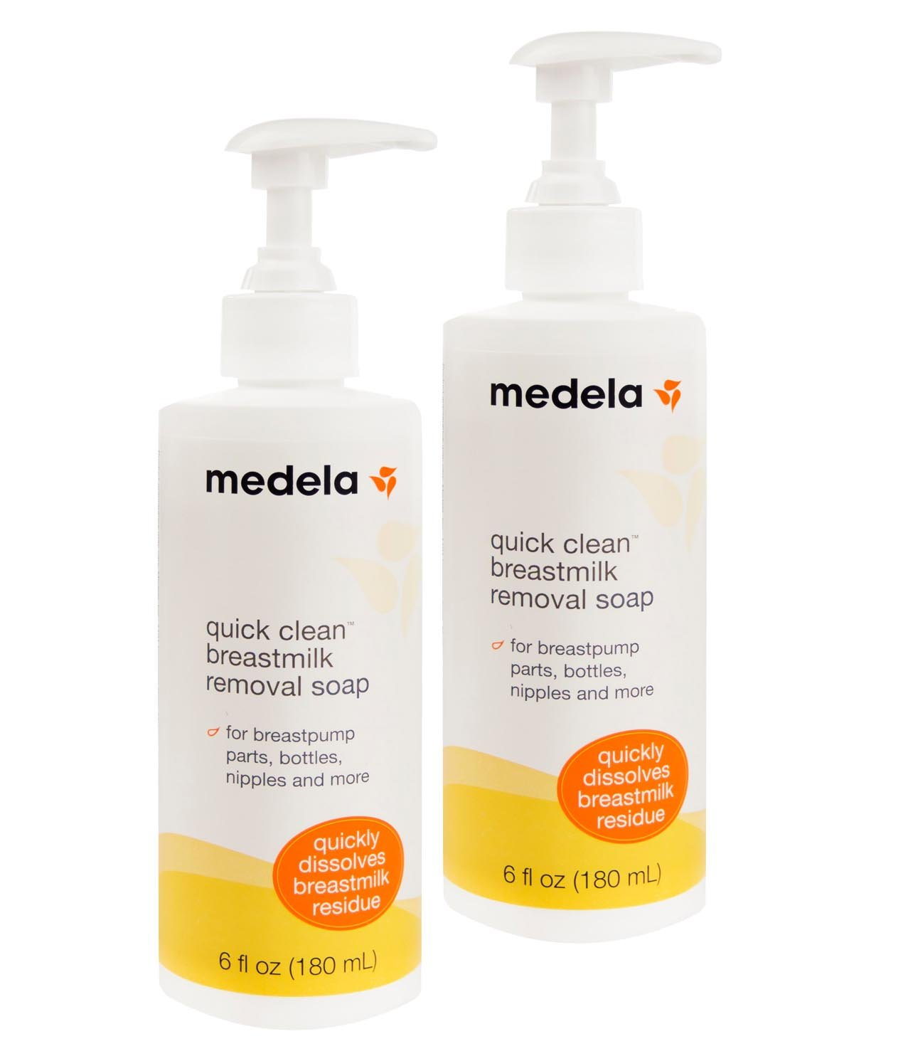 Medela Quick Clean Breast Milk Removal Soap, 6 Ounce. Pack Of 2Removes Stains Up To 3 Days Old