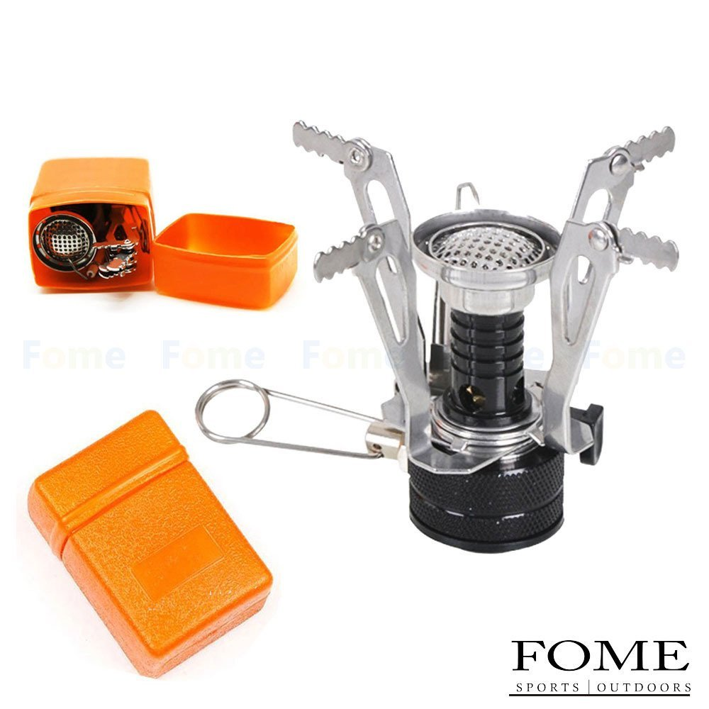 FOME Camping Gas Stove, SPORTS OUTDOORS Ultralight Portable Backpacking Camp Gas-powered Stove Foldable Burner with Piezo Ignition One Year Warranty