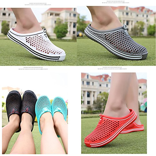Walking Shoes Slippers Mens Summer Clog Light Breathable Dark Shower Shoes Beach Garden Slip Soft Blue BADIER Anti Footwear Water Sandals Mesh npUqWpZ
