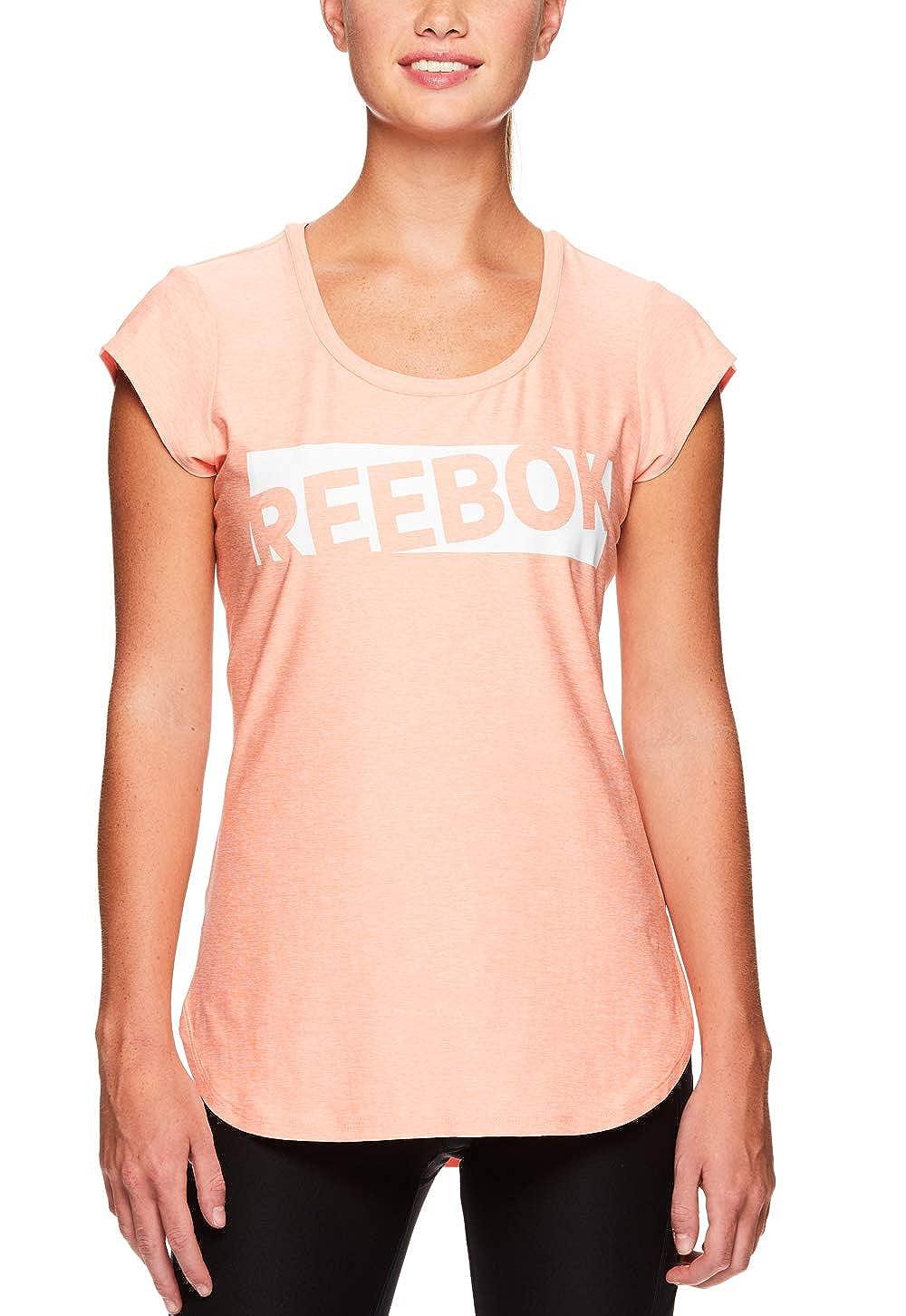 0b6cbc077b1ba Amazon.com  Reebok Women s Legend Performance Short Sleeve T-Shirt with  Polyspan Fabric  Clothing