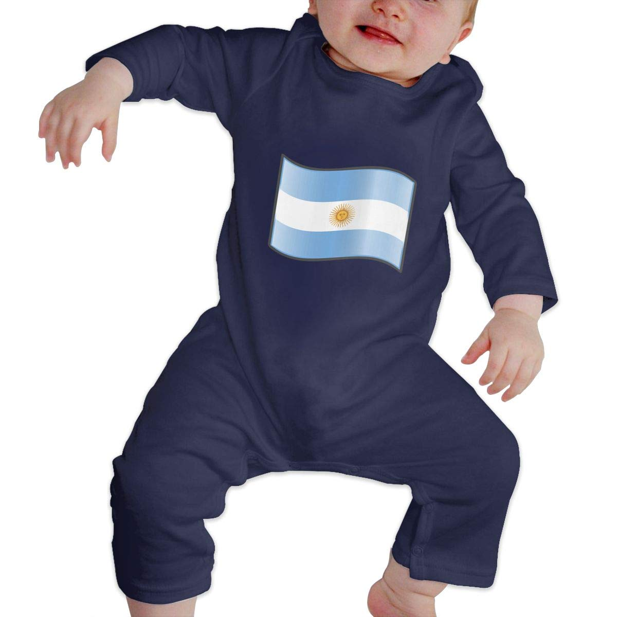 Suit 6-24 Months Q64 Newborn Round Collar Argentina Flag Long Sleeve Playsuit 100/% Cotton