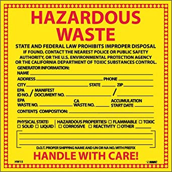 Slobbery image pertaining to free printable hazardous waste labels