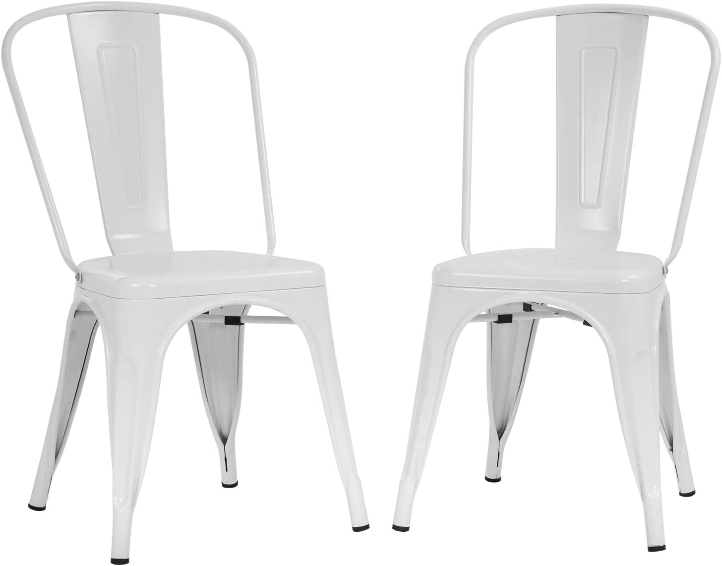 Metal Dining Chairs Set of 3 Indoor Outdoor Chairs Patio Chairs Kitchen  Metal Chairs 3 Inch Seat Height Restaurant Chair Metal Stackable Chair  Tolix