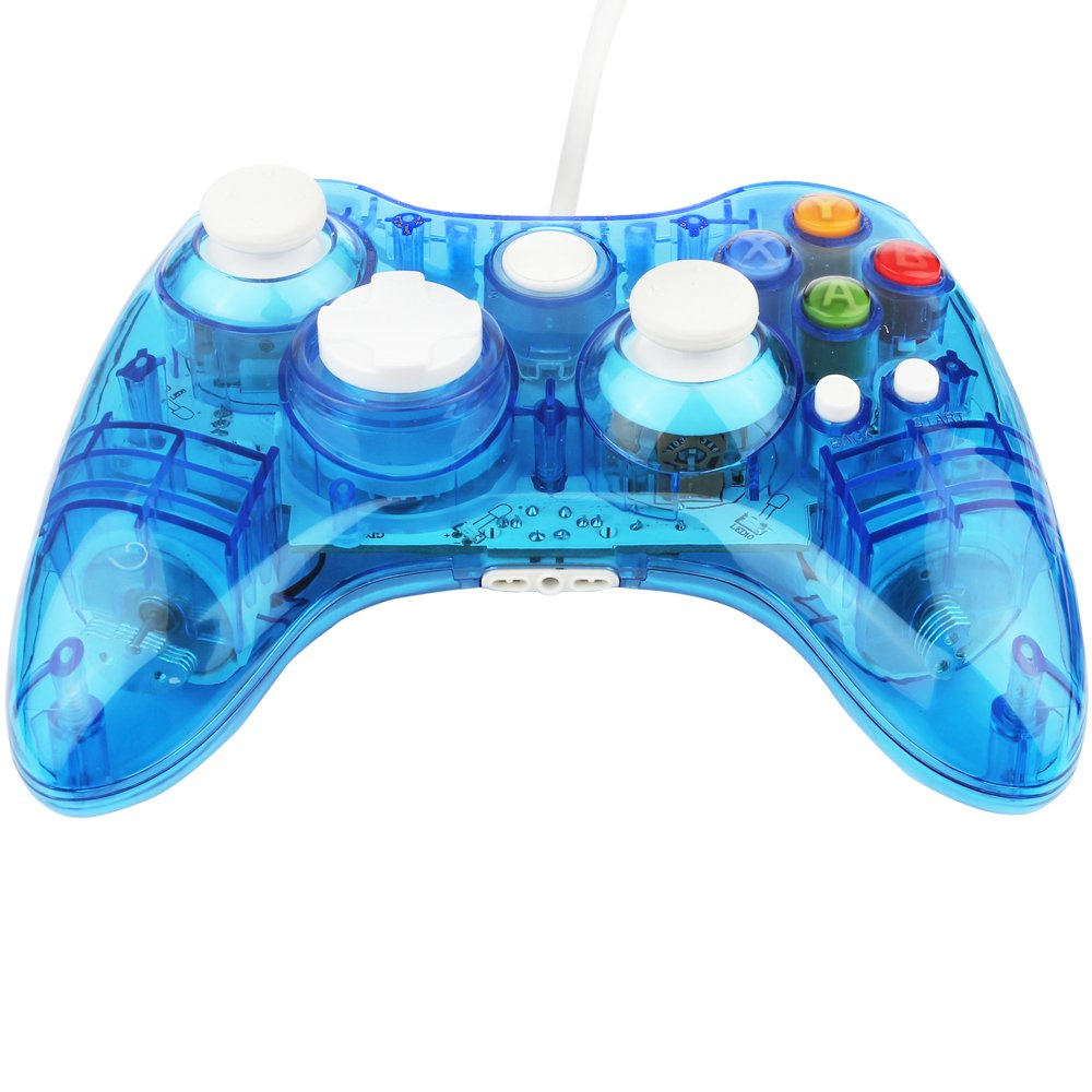 Amazon.com: Xbox 360 Controller GC20 Transparent LED Controller Dual ...