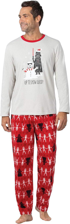 PajamaGram Star Wars Pajamas Men - Star Wars Christmas Pajamas, Red