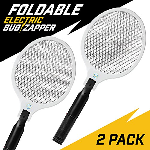 Livin' Well Electric Fly Swatter - Outdoor Electric Insect, Bee, Wasp, Mosquito, Fly, Gnat and Stinger Bug Killer and Repeller - Takes Just One Swing To Zap - Pack of 2 - Bees And Wasp Stings