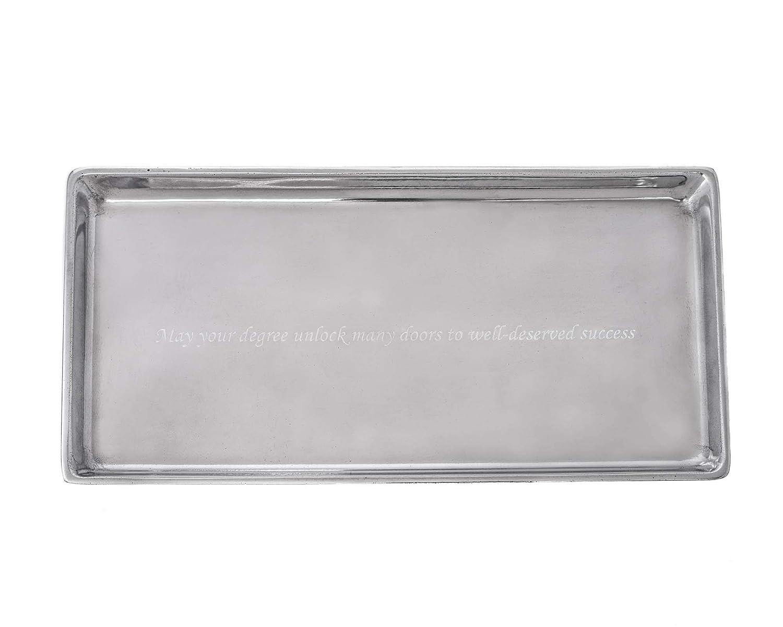 Arthur Court Designs Aluminum Engravable Tray 6x12