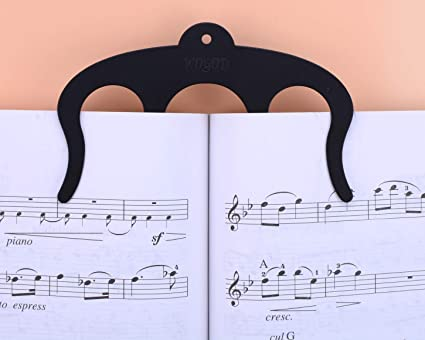Music Book Clip Page Holder 2pack Metal Sheet Music Holders For Sheet Music Standspianosmusicians And Cookbook Reading