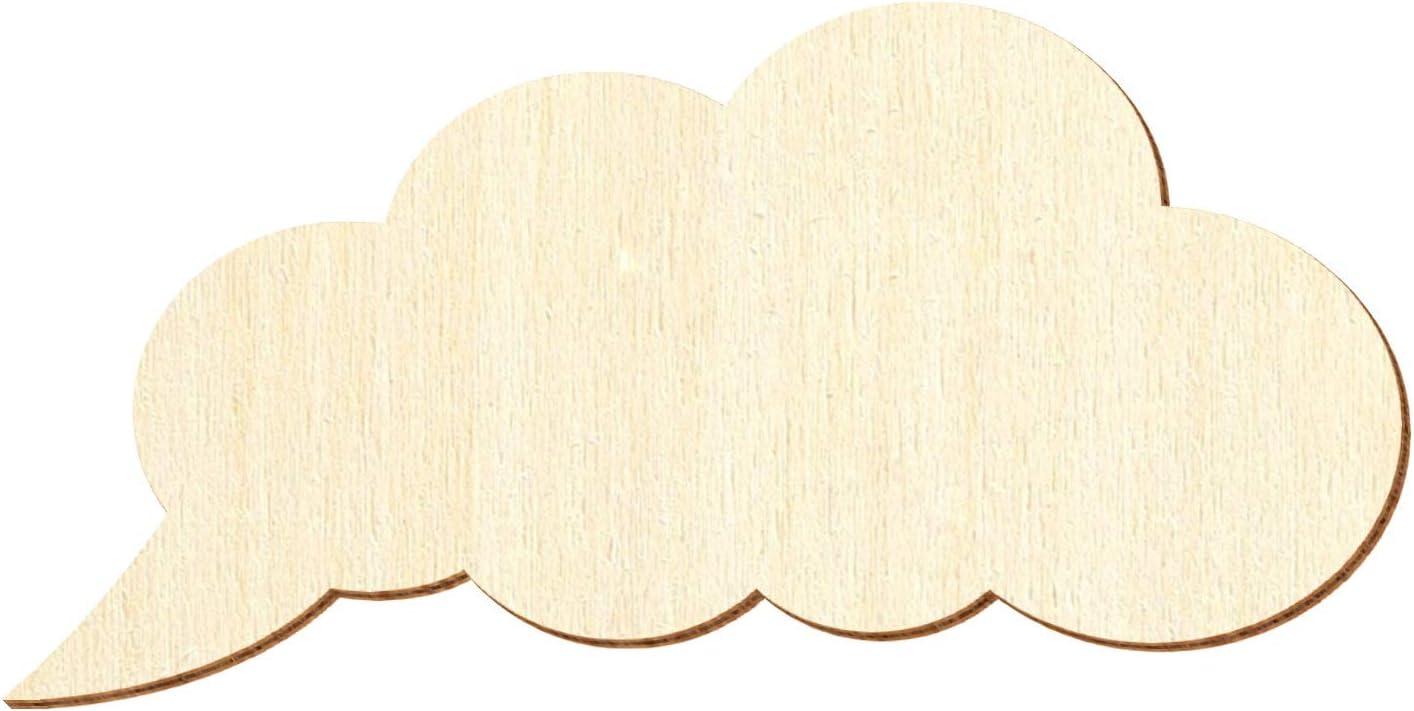 Graue Holz Wolke V2-3-50cm Deko Basteln