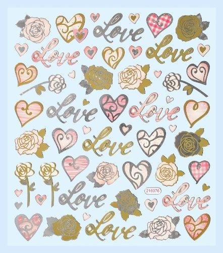 Hobby Design Sticker * Love - Liebe - Herzen Valentinstag * Aufkleber Hobbyfun