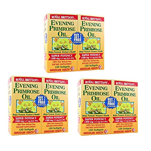Royal Brittany Evening Primrose Oil 1300mg Three (3) Twin Packs by American Health (Image #1)