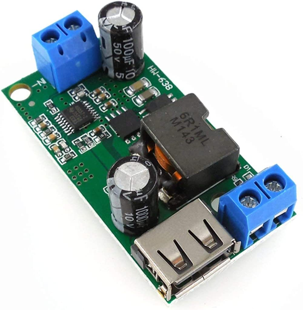 24V 12V HW-638 5V 5A-Abw/ärtsmodul 9V 36V auf 5V DC-DC-Hochleistungs-Spannungsstabilisator f/ür den integrierten geregelten Spannungswandler Gr/ün