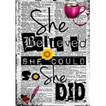 She Believed She Could So She Did - A Daily Gratitude Journal | Planner