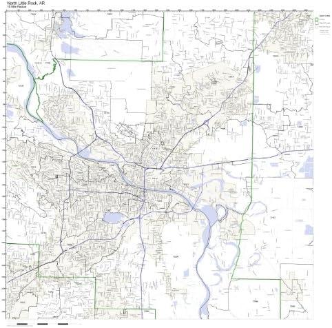 Amazon Com Working Maps North Little Rock Ar Zip Code Map