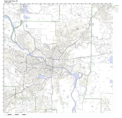 Amazon.com: North Little Rock, AR ZIP Code Map Laminated: Home & Kitchen