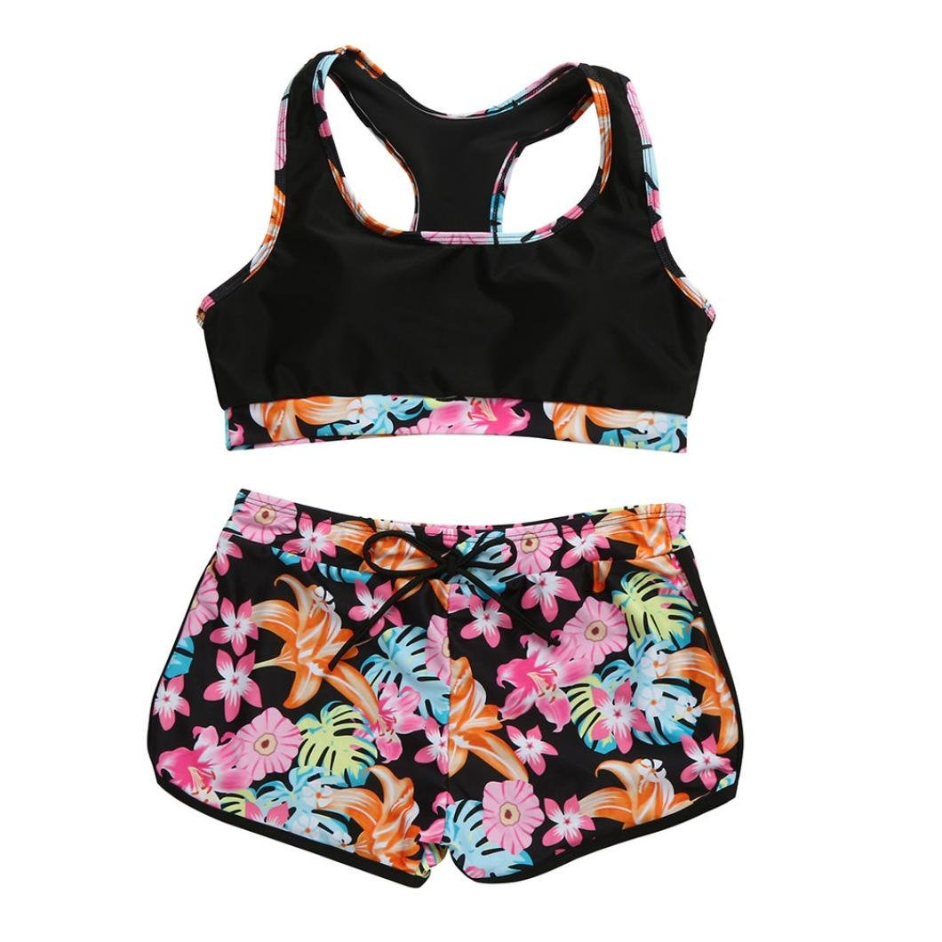89302794c6d Amazon.com: Fheaven Womens Girls Vest Tops Padded Swimsuit Shorts Swim  Trunks Set (S, Pink): Beauty