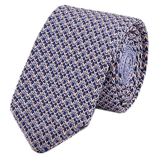 Men's V Patterned Eco-friendly Silk Ties Extra Long Knit Neckties Solid 57 Inch