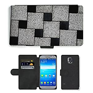 PU LEATHER case coque housse smartphone Flip bag Cover protection // M00152049 Estructura de piedra textura de fondo // Samsung Galaxy S5 S V SV i9600 (Not Fits S5 ACTIVE)