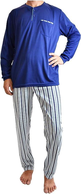 Mini kitten - Pijama de Hombre de Algodón Gordo, Conjuntos Pijama Largo Calido para el Invierno, de diseño Elegante y Moderno.: Amazon.es: Ropa y accesorios