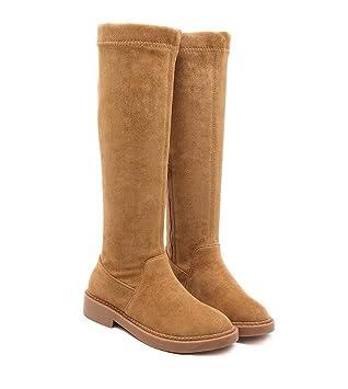 Frauen Kniehohe Stiefel 3,5 cm Chunkly Ferse Round Toe