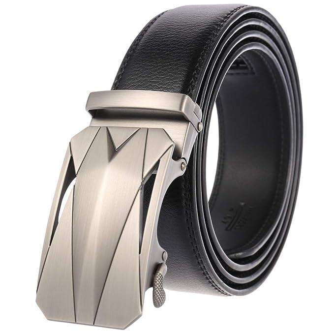 Amazon.com: Beatrbior - Cinturón para hombre de piel ...