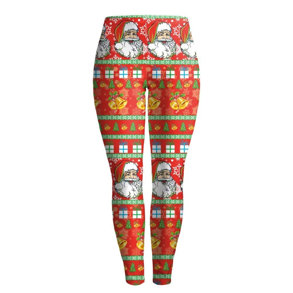 3cc33735367b0 Hi July Ugly Christmas Leggings Digital Print Xmas Leggings Tights at  Amazon Women's Clothing store: