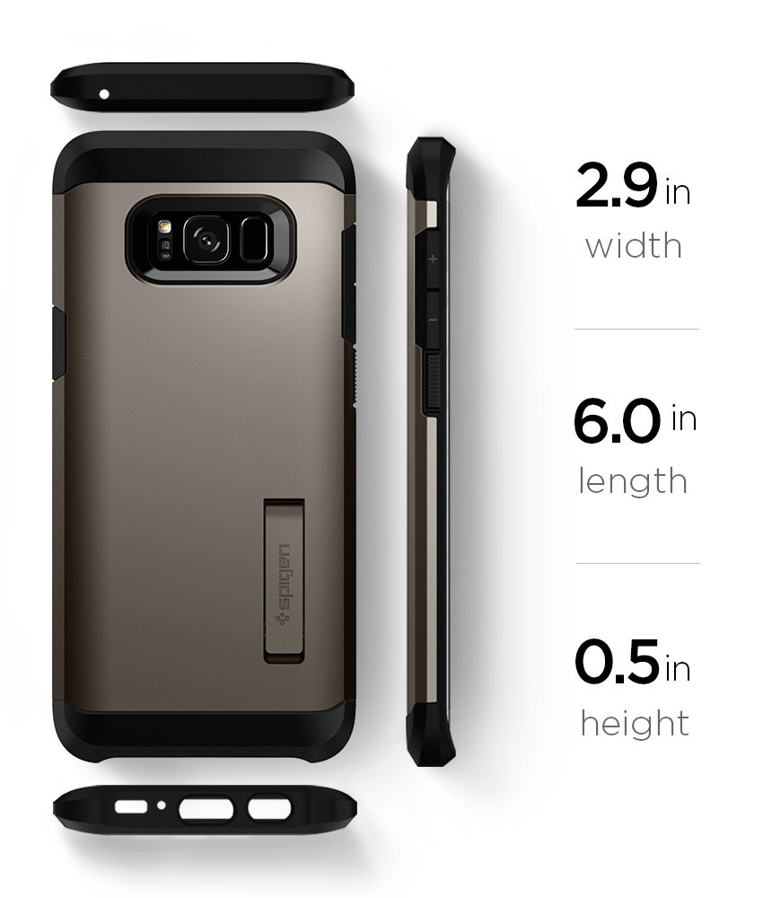 Spigen Tough Armor Galaxy S8 Case with Reinforced Kickstand and Heavy Duty Protection and Air Cushion Technology for Samsung Galaxy S8 (2017) - Gunmetal by Spigen (Image #10)