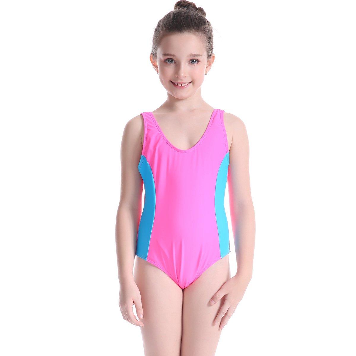Girl's One Piece Bathing Suit Infinity Splice Swimsuit Swimwear FOLWEP