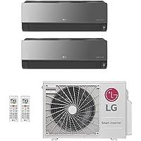 Ar-Condicionado Multi Split Inverter LG 18.000 BTUs (1x Evap HW Artcool 8.500 + 1x Evap HW Artcool 11.900) Quente/Frio…