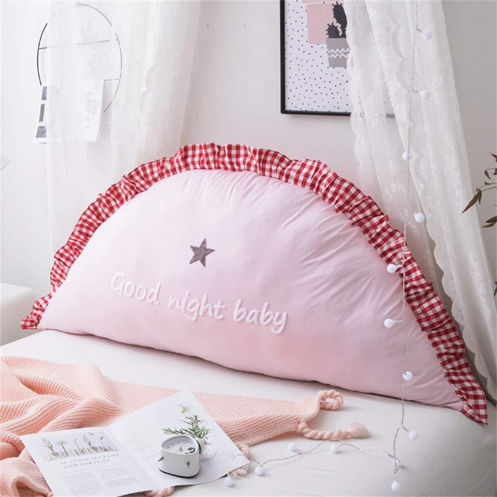 Unbekannt JXQ Haushalts Baumwolle Prinzessin Bett Kopfstütze Dreidimensionale Handtuch Stickerei Kinderzimmer Kissen Sofa Rückenlehne Abnehmbar Und Waschbar, 2 Größen & 6 Farben
