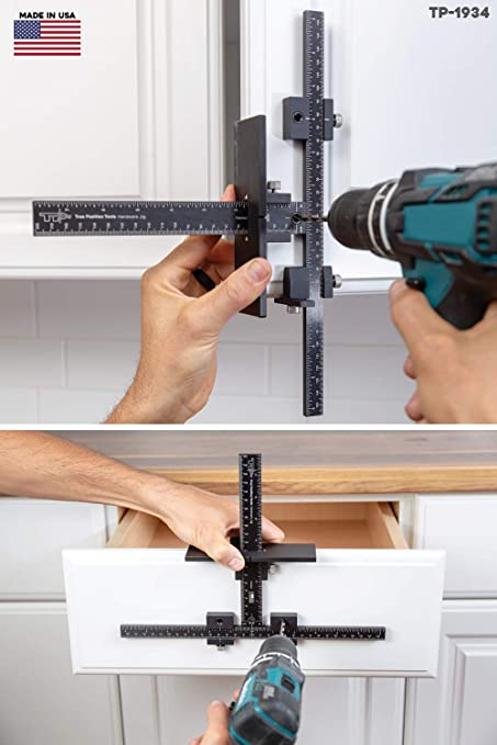 The Original Cabinet Hardware Jig Tool Drill Template Guide For Door And Drawer Handle Knob Pull Installation Tp 1934 By True Position Tools