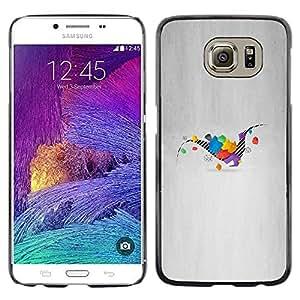 // PHONE CASE GIFT // Duro Estuche protector PC Cáscara Plástico Carcasa Funda Hard Protective Case for Samsung Galaxy S6 / Dinosaurio Geometría /