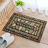 Eanpet Front Door Mat Funny Doormat Welcome Mats 2x3 Outdoor Indoor Entrance Doormat Rubber Non Slip Rug Outside Waterproof Shoes Scraper Area Rug for Home Decor Bedroom Garden